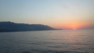 Kuşadası'nda günbatımı