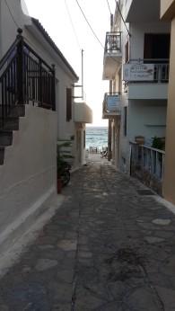 Denize çıkan dar sokaklar