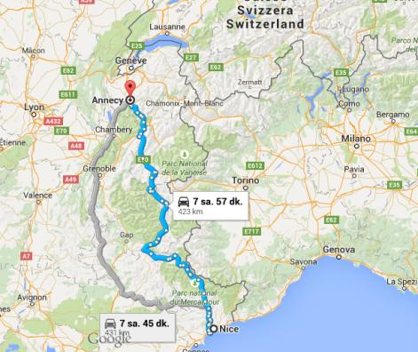 Annecy - harita