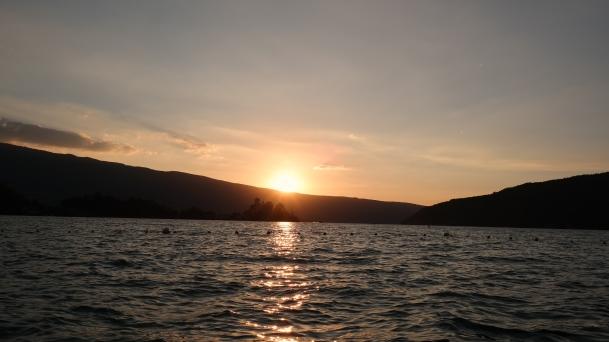 Annecy gün batımı